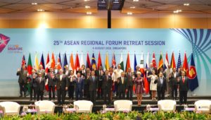 MINISTER OF FOREIGN AFFAIRS LEADS SRI LANKA DELEGATION TO THE 25TH ASEAN REGIONAL FORUM