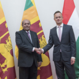 Szijjártó Péter külgazdasági és külügyminiszter és Tilak Marapana, Srí Lanka-i külügyminiszter találkozója 2019. június 14-én a Külgazdasági és Külügyminisztériumban. Fotó:KKM/Burger Zsolt